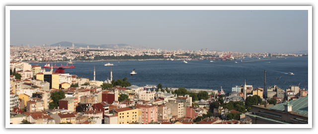 The view of the Bosphorus